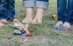 bunte Füße